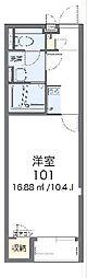 東武伊勢崎線 羽生駅 徒歩17分の賃貸アパート 1階1Kの間取り