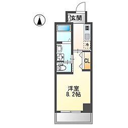 仮)熱田区波寄町マンション 6階1Kの間取り