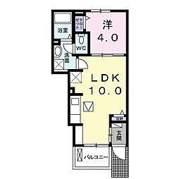 東武佐野線 佐野市駅 徒歩37分の賃貸アパート 1階1LDKの間取り