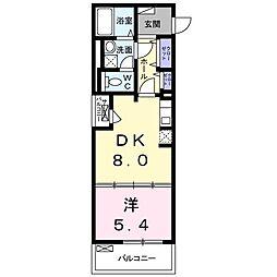 ドエル マイロ 3階1DKの間取り