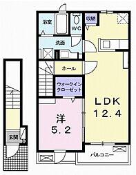 JR東海道本線 沼津駅 バス11分 小諏訪下車 徒歩6分の賃貸アパート 2階1LDKの間取り