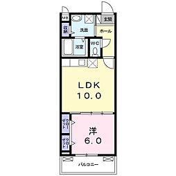 京阪本線 枚方公園駅 徒歩7分の賃貸アパート 2階1LDKの間取り