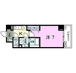 小田急小田原線 向ヶ丘遊園駅 徒歩13分の賃貸マンション 1階1Kの間取り