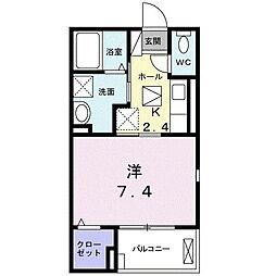 JR御殿場線 御殿場駅 徒歩21分の賃貸アパート 1階1Kの間取り