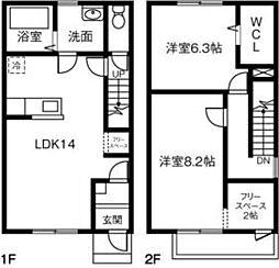 (仮)愛知県西尾市西幡豆町MP 1階2LDKの間取り