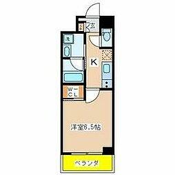 東京メトロ東西線 葛西駅 徒歩6分の賃貸マンション 3階1Kの間取り