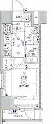都営三田線 蓮根駅 徒歩8分の賃貸マンション 8階1Kの間取り