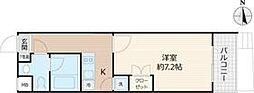 Beverly Homes 赤塚公園II 1階1Kの間取り