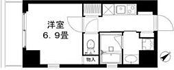 REISM HIVE 中目黒 6階1Kの間取り