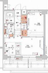 (仮)神楽坂ヒルズsecondレジデンス 6階1LDKの間取り