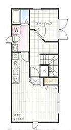 iON MEGURO E 1階ワンルームの間取り