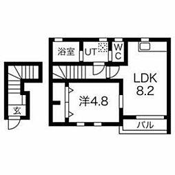 西武多摩湖線 武蔵大和駅 徒歩15分の賃貸アパート 2階1LDKの間取り