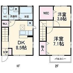 メゾン・ド・上野台 1階2LDKの間取り