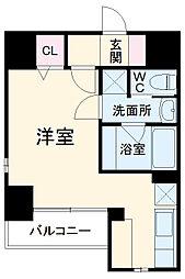 サクセス 7階ワンルームの間取り