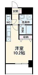 名古屋市営桜通線 野並駅 徒歩2分の賃貸マンション 4階ワンルームの間取り