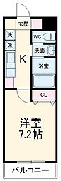 名古屋市営桜通線 野並駅 徒歩14分の賃貸マンション 5階1Kの間取り