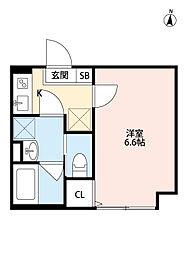 埼玉新都市交通 鉄道博物館(大成)駅 徒歩9分の賃貸アパート 1階1Kの間取り