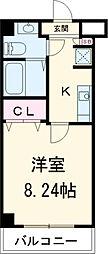 ユリカロゼAZEST川口 4階1Kの間取り