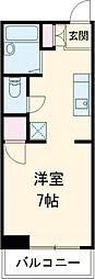 JR山手線 恵比寿駅 徒歩7分の賃貸アパート 3階ワンルームの間取り