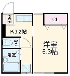 国府津駅 4.4万円
