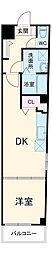 Arcenciel幕張 2階1DKの間取り