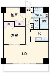 西辻マンション 8階1SLDKの間取り