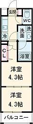 PREMIUM CUBE 武蔵新田 3階2Kの間取り
