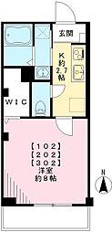 京急空港線 大鳥居駅 徒歩9分の賃貸マンション 1階1Kの間取り