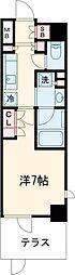 京急空港線 大鳥居駅 徒歩4分の賃貸マンション 3階1Kの間取り