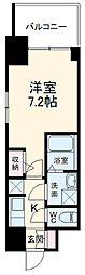 S-RESIDENCE本郷 6階1Kの間取り