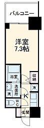 名古屋市営東山線 本郷駅 徒歩8分の賃貸マンション 12階1Kの間取り