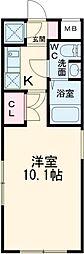 都営三田線 西高島平駅 徒歩14分の賃貸マンション 4階1Kの間取り