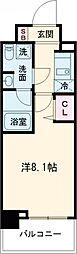 パティーナ東武練馬 4階1Kの間取り
