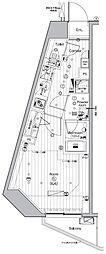 JR山手線 池袋駅 徒歩13分の賃貸マンション 6階ワンルームの間取り