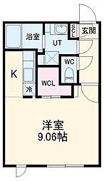 名古屋市営鶴舞線 浄心駅 徒歩2分の賃貸マンション 5階ワンルームの間取り