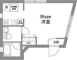 京王線 上北沢駅 徒歩6分の賃貸マンション 1階1Kの間取り