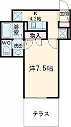 仮)ベルフォーレ小金井公園 1階1Kの間取り