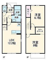 名鉄蒲郡線 西幡豆駅 徒歩10分の賃貸テラスハウス