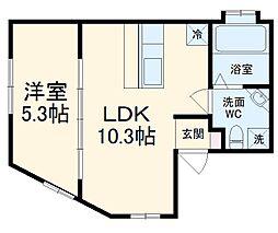 Moto e Vento 湘南逗子 2階1LDKの間取り