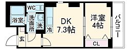 JR鶴見線 鶴見小野駅 徒歩8分の賃貸マンション 1DKの間取り