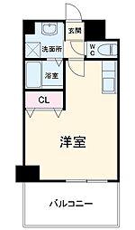 JR鹿児島本線 竹下駅 徒歩13分の賃貸マンション 2階1Kの間取り
