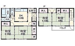 作草部駅 6.9万円