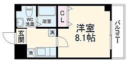 仮称)梅津神田町共同住宅 5階1Kの間取り