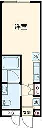 Reco桜新町 3階ワンルームの間取り