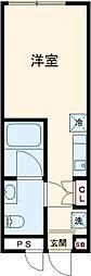 東急世田谷線 上町駅 徒歩6分の賃貸マンション 4階ワンルームの間取り
