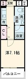 CREVISTA板橋志村 5階1Kの間取り