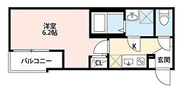 東武東上線 上板橋駅 徒歩18分の賃貸アパート 1階1Kの間取り