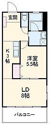 沖縄都市モノレール 首里駅 8kmの賃貸マンション 6階1LDKの間取り