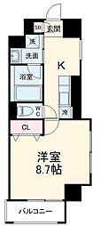 JR東海道・山陽本線 高槻駅 徒歩5分の賃貸マンション 5階1Kの間取り