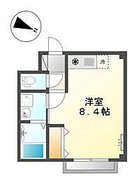 小田急小田原線 向ヶ丘遊園駅 徒歩5分の賃貸マンション 3階ワンルームの間取り